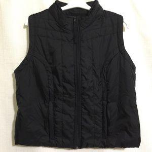 Lane Bryant Sz 18/20 Black Quilted Vest